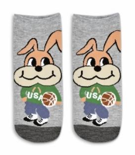 جوراب مچی طرح خرگوش خاکستری