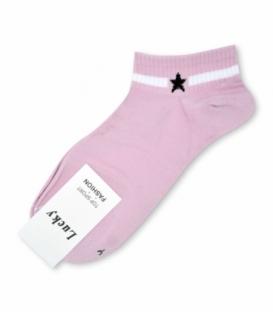 جوراب مچی طرح تک ستاره صورتی