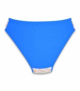 شورت اسلیپ نخی نیلی کد 200 طرح گلدار کوچک آبی