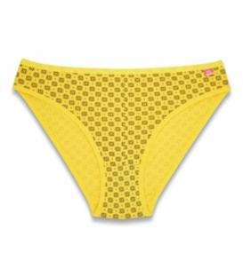 شورت اسلیپ نخی نیلی کد 410 طرح هندسی زرد