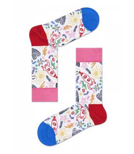 جوراب طرح هپی ساکس نقاشی