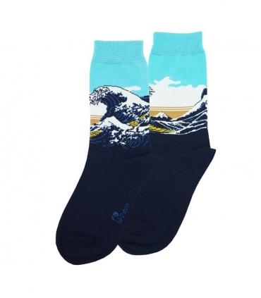 جوراب ساقدار نانو پاتریس طرح موج عظیم کاناگاوا