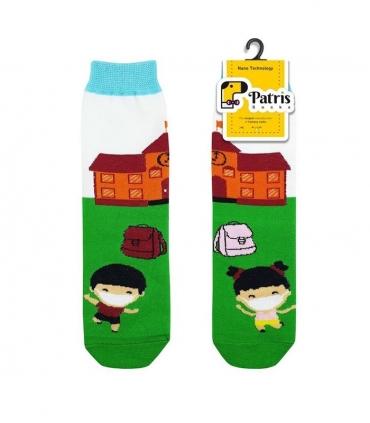 جوراب بچگانه ساقدار نانو پاتریس طرح مدرسه