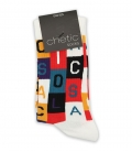 جوراب ساقدار Chetic چتیک طرح ABCD رنگارنگ