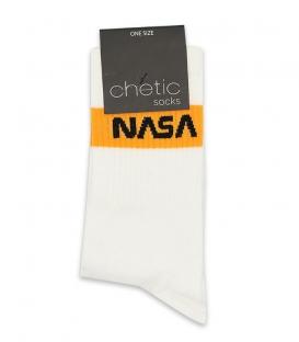 جوراب ساقدار Chetic چتیک طرح Nasa سفید نارنجی