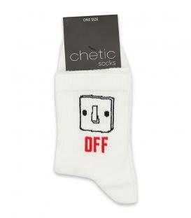 جوراب نیم ساق Chetic چتیک طرح خاموش روشن سفید