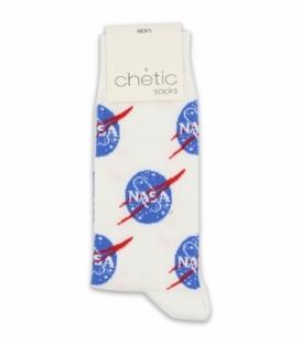 جوراب ساقدار Chetic چتیک طرح ناسا سفید