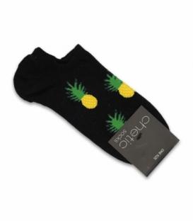 جوراب قوزکی Chetic چتیک طرح آناناس مشکی