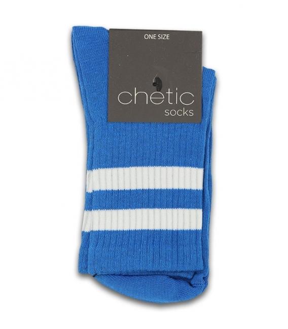 جوراب نیم ساق Chetic چتیک طرح دو خط سفید آبی