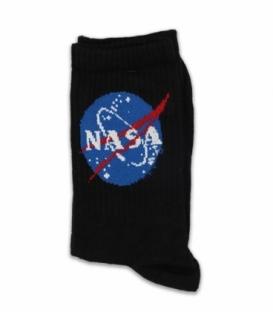 جوراب ساقدار Chetic چتیک طرح ناسا مشکی