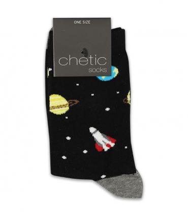 جوراب ساقدار Chetic چتیک طرح شاتل فضایی مشکی