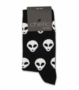 جوراب ساقدار Chetic چتیک طرح الین مشکی