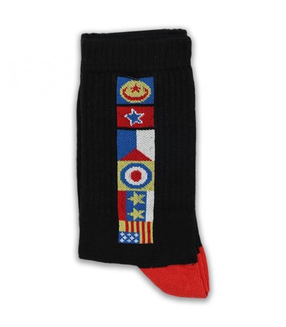 جوراب ساقدار Chetic چتیک طرح پرچم مشکی