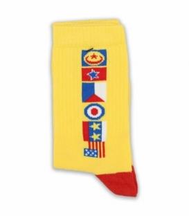 جوراب ساقدار Chetic چتیک طرح پرچم زرد
