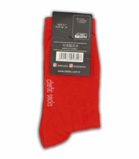 جوراب ساقدار Chetic چتیک ساده قرمز