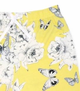 شلوارک نخی Misspel میسپل کد 460 طرح گل درشت زرد