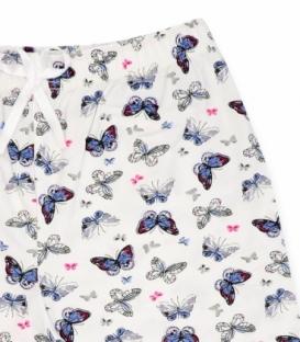شلوارک نخی Misspel میسپل کد 460 طرح پروانه سفید