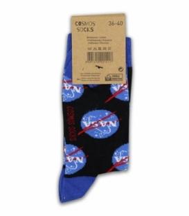 جوراب ساقدار Cosmos کازموس طرح ناسا مشکی
