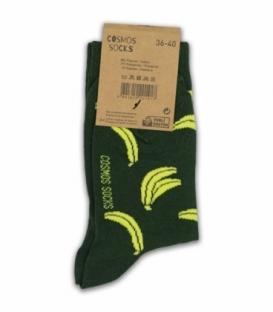 جوراب ساقدار Cosmos کازموس طرح موز سبز