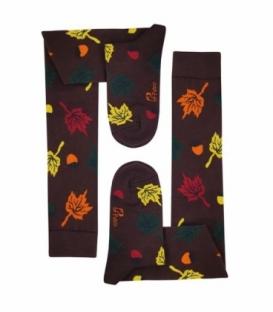 جوراب بالا زانو نانو پاتریس طرح برگ و بلوط پاییزی