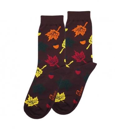 جوراب ساقدار نانو پاتریس طرح برگ و بلوط پاییزی