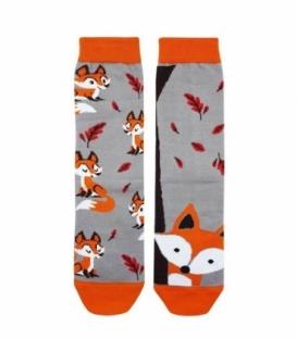 جوراب لنگه به لنگه ساقدار نانو پاتریس طرح روباه پاییزی