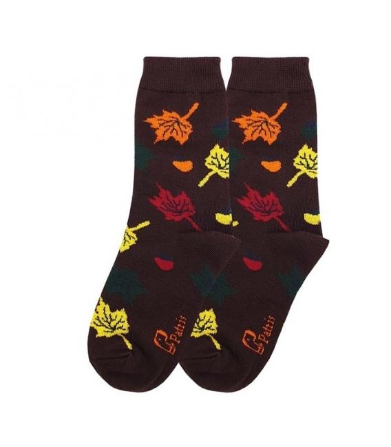 جوراب بچگانه ساقدار نانو پاتریس طرح برگ و بلوط پاییزی