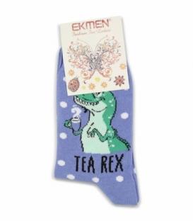 جوراب ساقدار Ekmen اکمن طرح Tea Rex بنفش روشن