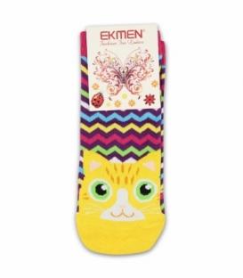 جوراب مچی Ekmen اکمن طرح گربه مواج رنگارنگ