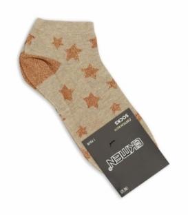 جوراب مچی Ekmen اکمن طرح ستاره قهوهای