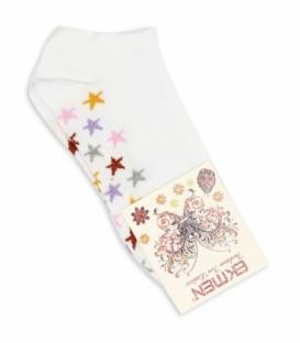 جوراب مچی Ekmen اکمن طرح ستاره رنگارنگ سفید