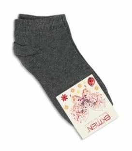 جوراب مچی Ekmen اکمن ساده خاکستری