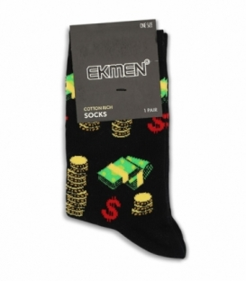 جوراب ساقدار Ekmen اکمن طرح پول و سکه مشکی