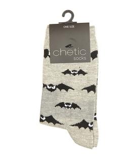 جوراب ساقدار Chetic چتیک طرح خفاش خاکستری