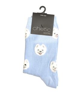 جوراب Chetic چتیک طرح توله سگ آبی