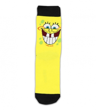 جوراب ساقدار Ekmen اکمن طرح باب اسفنجی خندان زرد