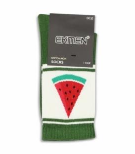جوراب ساقدار Ekmen اکمن طرح هندوانه سبز