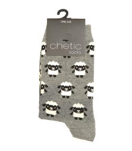 جوراب Chetic چتیک طرح گوسفند خاکستری