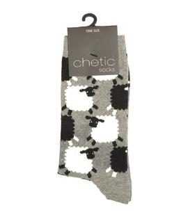 جوراب Chetic چتیک طرح گوسفند تپلی خاکستری