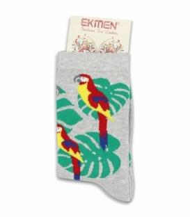 جوراب ساقدار Ekmen اکمن طرح طوطی خاکستری