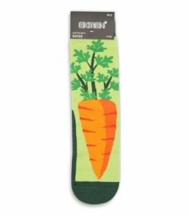 جوراب ساقدار Ekmen اکمن طرح هویج سبز