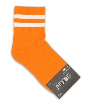 جوراب نیم ساق Ekmen اکمن طرح دو خط نارنجی