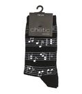 جوراب ساق دار Chetic چتیک طرح موزیک مشکی