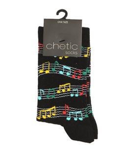 جوراب ساق دار Chetic طرح موزیک رنگی
