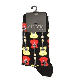 جوراب ساق دار Chetic طرح گیتار رنگی