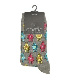 جوراب Chetic چتیک طرح ربات رنگی