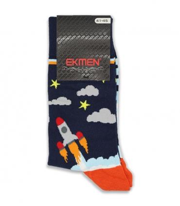 جوراب ساقدار Ekmen اکمن طرح شاتل فضایی سرمهای