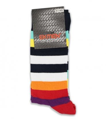 جوراب ساقدار Ekmen اکمن طرح رنگارنگ
