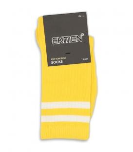 جوراب ساقدار Ekmen اکمن طرح دو خط زرد روشن