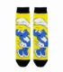 جوراب ساقدار نانو پاتریس طرح اسمورف گل نمک زرد